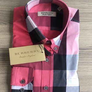 BURBERRY LONDON ENGLAND Casual Button Down Shirts